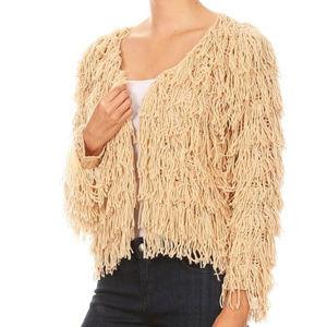 Sweaters - COPY - SHAG CARDIGAN
